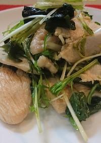 鶏むね肉で作るサラダメシ