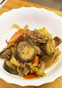 牛肉とたっぷり野菜のすき焼き風炒め