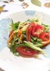 簡単!水菜の炒め物 サラダ風