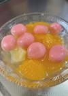 豆乳白玉フルーツポンチ