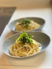 超簡単!お茶漬け海苔でスパゲティの写真