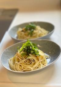 超簡単!お茶漬け海苔でスパゲティ