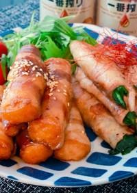 ご飯がすすむ 厚揚げ肉巻き、ニラ肉巻き