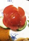 簡単♡きゅうりとトマトのお花♪