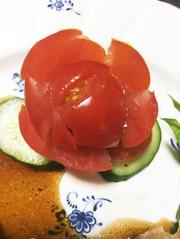 簡単♡きゅうりとトマトのお花♪の写真