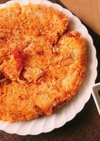 失敗したご飯を救済★キムチチーズチヂミ