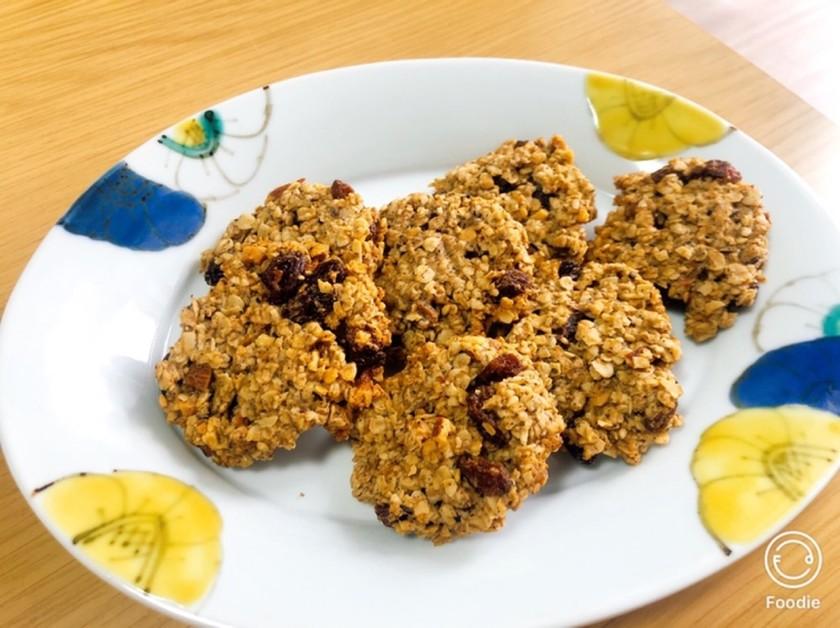 小麦粉不使用☆オートミールきなこクッキー