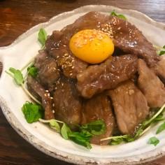 サッと作れる♡甘辛豚肉丼
