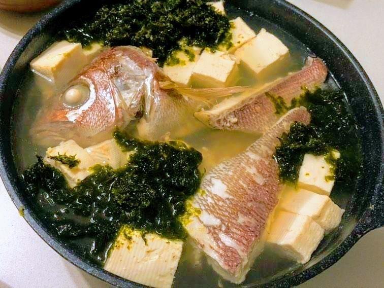 屋久島のオオヒメと長島のアオサでマース煮