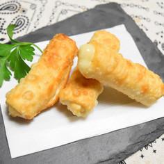 餃子の皮を使ってチーズ揚げ