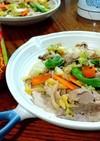 キャベツと豚肉の炒め物 トムヤムクン風味