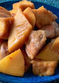 麺つゆで簡単タケノコと厚揚げと鶏肉の煮物