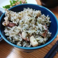 イカと海苔の炊き込みご飯
