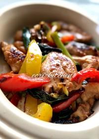 醤油麹 de 鶏胸肉の夏野菜炒め