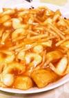 簡単手間なし海老と筍とじゃが芋の醤油あん