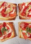 ソーセージ&トマトの一口オープンサンド