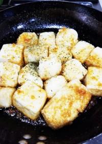 豆腐ステーキ ♪にんにくバター醤油