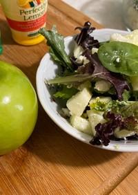青リンゴとフェタチーズのさっぱり夏サラダ