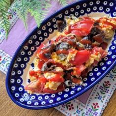 きくらげINトマトチーズ卵炒め