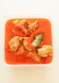 トマトとパプリカのチキン煮込み