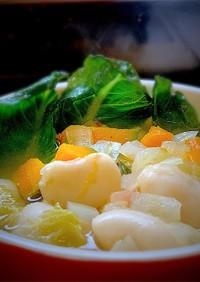 レタスと白花豆のスープ