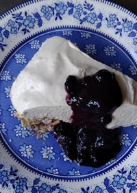 ビーガン レアチーズケーキ風