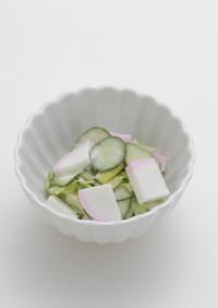 介護食 やわらかまぼこ紅と胡瓜の和え物