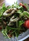 水菜とちくわの塩昆布和え