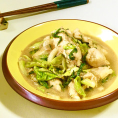 レンジで♪鶏胸肉とキャベツのごまみそ煮