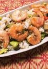 そら豆と海老の炒飯