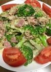 ブロッコリーと鯖缶サラダ