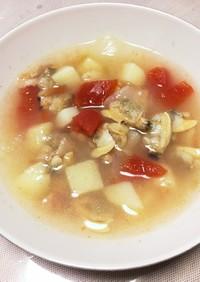 あさりのスープ マルセーユ風