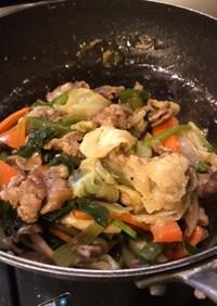 ヘルシー&柔らか お腹に優しい肉野菜炒め