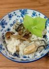 牡蠣となめこの炊き込みご飯