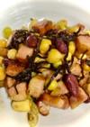 サラダ豆とベーコンの塩昆布ガーリック炒め
