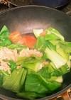 トマトとちんげん菜とツナの卵炒め