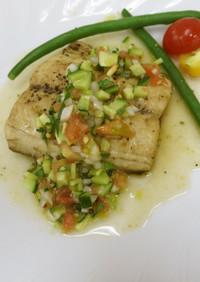 白身魚のソテー~夏野菜ソース~