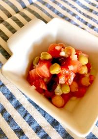 【学校給食】トマトビーンズサラダ