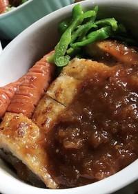豚ロース厚切りの生姜焼き(*´-`)