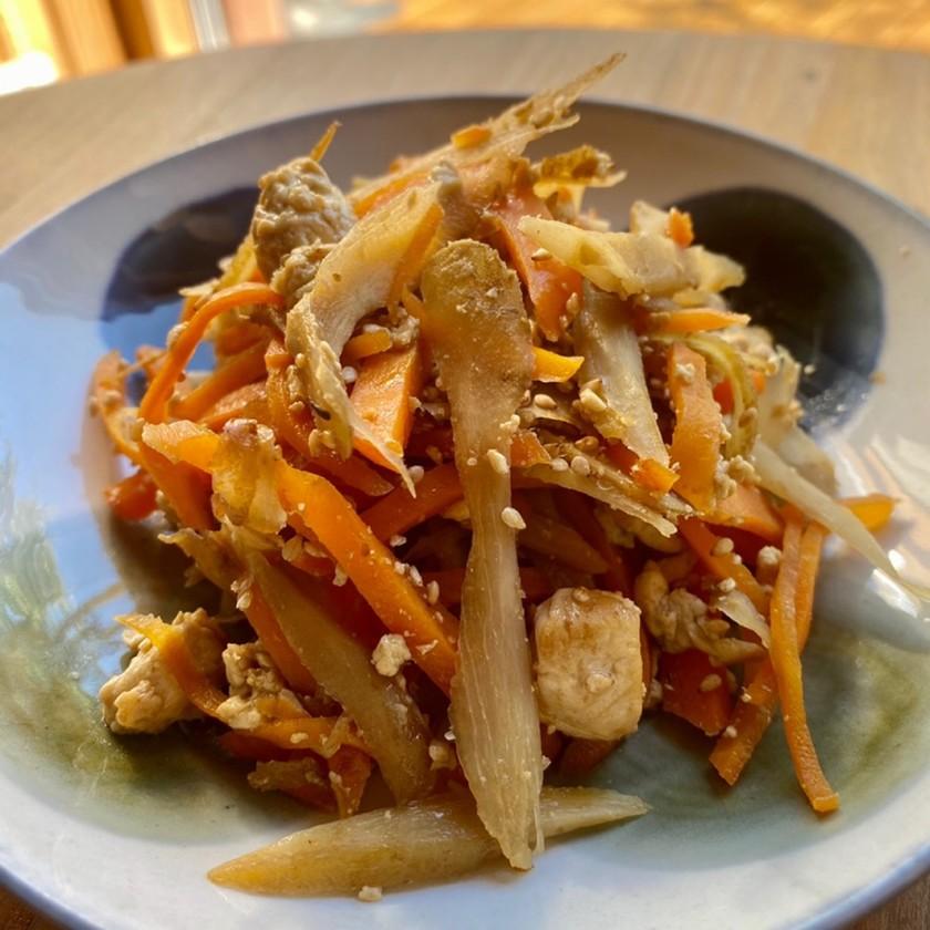 キンピラゴボウの炒り豆腐