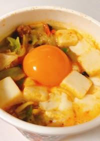蒙古タンメン 生卵 チーズ