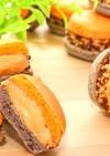 乾燥なしキャラメルチョコクランチマカロン