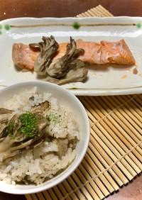 一度に2品♪時短で楽々♪鮭と炊き込みご飯