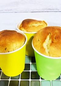 紙コップで作るバナナシフォンケーキ