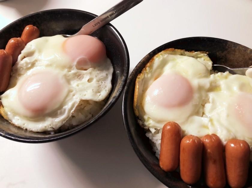 目玉焼&ウインナー丼