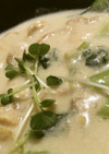 ホタテと青梗菜豆乳シチュー♪(´ε` )
