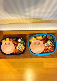 3歳と5歳のお弁当♡