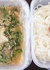 夏定番☆サバ缶冷や汁素麺弁当