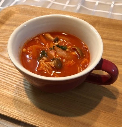 野菜ジュースdeスープ