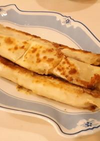 朝簡単 餃子の皮deハム&チーズロール
